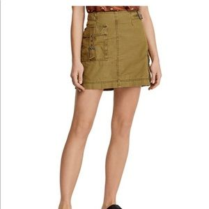 NEW WITH TAGS Free People Erika Utility Mini Skirt